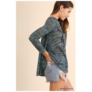 Sweaters - Midnight Blue Lightweight Pullover Sweater
